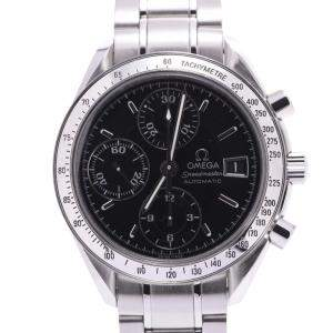 Omega Black Stainless Steel Speedmaster Date 3513.50 Automatic Men's Wristwatch 38 MM