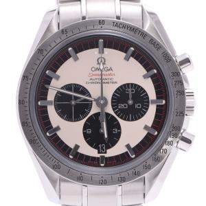 Omega White/Black Stainless Steel Speedmaster Schumacher 04 Limited Limited 3559.32 Automatic Men's Wristwatch 40 MM