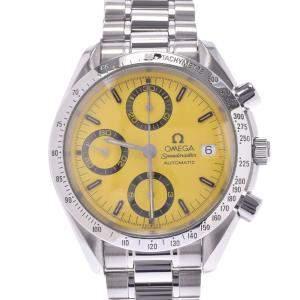 Omega Yellow Stainless Steel Speedmaster Schumacher 3511.12 Men's Wristwatch 39 MM