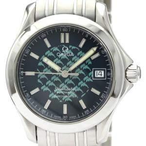 ساعة يد رجالية أوميغا سي ماستر 120M جاك مايول إصدار محدود 2508.80 ستانلس ستيل زرقاء 36 مم