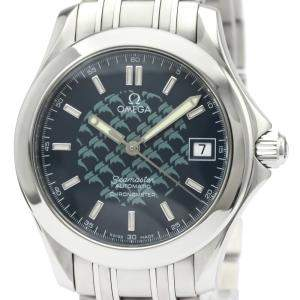 ساعة يد رجالية أوميغا ساماستر 120M جاك مايول إصدار محدود 2508.80 ستانلس ستيل زرقاء 36 مم