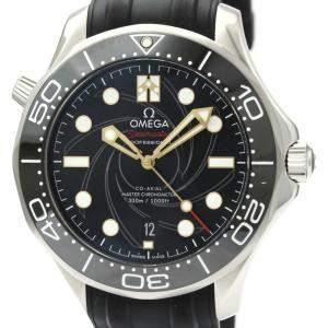 """ساعة يد رجالية أوميغا """"سياماستر ديفر 300 جميس بوند 210.22.42.20.01.004"""" ستانلس ستيل سوداء 42 مم"""