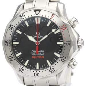"""ساعة يد رجالية أوميغا """"سيماستر ابنيا جاك مايول 2595.50.00"""" ستانلس ستيل سوداء 42 مم"""