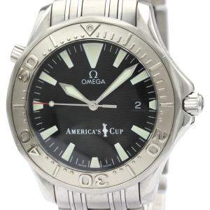 Omega Black Stainless Steel Seamaster Professional 300M Americas Cup 2533.50 Men's Wristwatch 41 MM