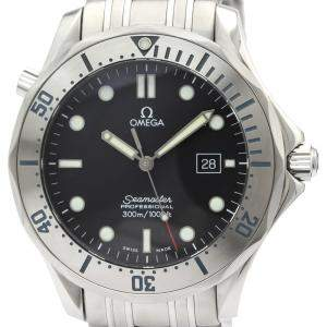 Omega Black Stainless Steel Seamaster Professional 300M 2261.50 Men's Wristwatch 41 MM
