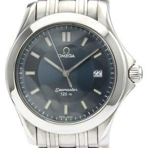 Omega Blue Stainless Steel Seamaster Quartz 2511.82 Men's Wristwatch 36 MM