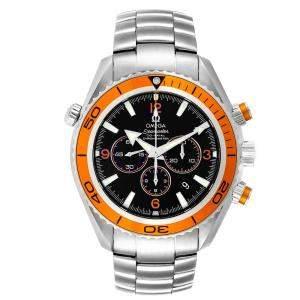 Omega Black Stainless Steel Seamaster Planet Ocean XL 2218.50.00 Men's Wristwatch 45.5 MM