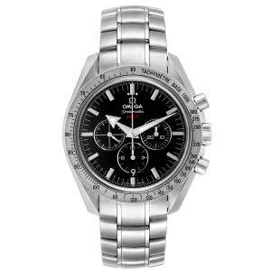 Omega Black Stainless Steel Speedmaster Broad Arrow 1957 321.10.42.50.01.001 Men's Wristwatch 42 MM