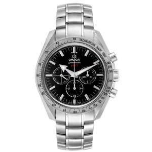 """ساعة يد رجالية أوميغا """"سبيدماستر برواد ارو 1957 321.10.42.50.01.001"""" ستانلس ستيل سوداء 42 مم"""
