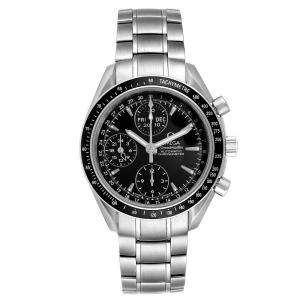 Omega Black Stainless Steel Speedmaster Day-Date Chronograph 3220.50.00 Men's Wristwatch 40 MM