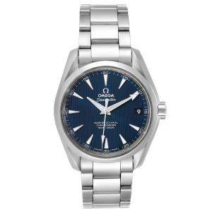 Omega Blue Stainless Steel Seamaster Aqua Terra 231.10.39.21.03.002 Men's Wristwatch 38.5 MM