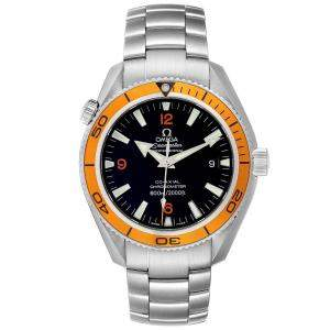 Omega Black Stainless Steel Seamaster Planet Ocean 2209.50.00 Men's Wristwatch 42 MM
