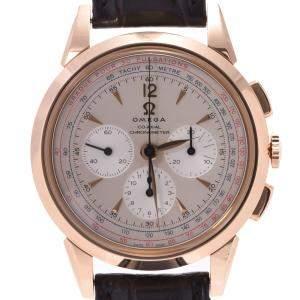 ساعة يد رجالية أوميغا ميوزم كوليكش راكند تايمر إصدار محدود 516.53.39.50.02.001  ذهب وردي عيار 18 فضية 39مم