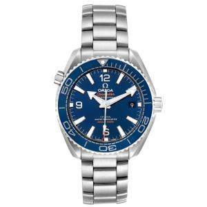 Omega Blue Stainless Steel Planet Ocean Master Chronometer 215.30.40.20.03.001 Men's Wristwatch 39.5 MM