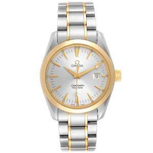 Omega Silver and Stainless Steel Seamaster Aqua Terra 2318.30.00 Men's Wristwatch 36 MM