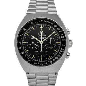 Omega Black Stainless Steel Speedmaster Mark II Telestop145.037 Men's Wristwatch 43 MM