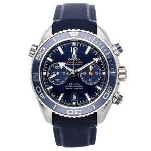 Omega Blue Titanium Seamaster Planet Ocean 600m Chronograph 232.92.46.51.03.001 Men's Wristwatch 45.5 MM