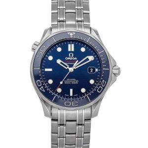 Omega Blue Stainless Steel Seamaster Diver 300m 212.30.41.20.03.001 Men's Wristwatch 41 MM