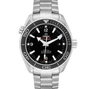 Omega Black Stainless Steel Seamaster Planet Ocean 600M 232.30.46.21.01.001 Men's Wristwatch 45.5 MM
