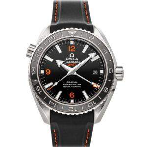 Omega Black Stainless Steel Seamaster Planet Ocean 600M GMT 232.32.44.22.01.002 Men's Wristwatch 43.5 MM