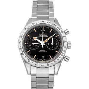 ساعة يد رجالية أوميغا سبيد ماستر 57 '331.10.42.51.01.002 ستانلس ستيل سوداء 41.5 مم