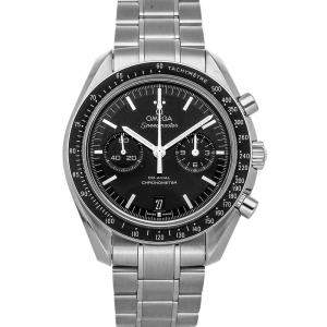 Omega Black Stainless Steel Speedmaster Chronograph 311.30.44.51.01.002 Men's Wristwatch 44 MM