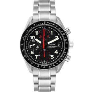 """ساعة يد رجالية أوميغا """"سبيدماستر إصدار محدود ياباني 3513.53.00"""" ستانلس ستيل سوداء 39 مم"""