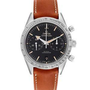 """ساعة يد رجالية أوميغا """"سبيدماستر 57 كو-اكسيال كرونوغراف 331.12.42.51.01.002"""" ستانلس ستيل سوداء 41.5 مم"""