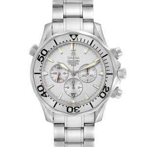 """ساعة يد رجالية أوميغا """"سياماستر إصدار محدود كرونوغراف 2589.30.00"""" ستانلس ستيل فضية 41.5 مم"""
