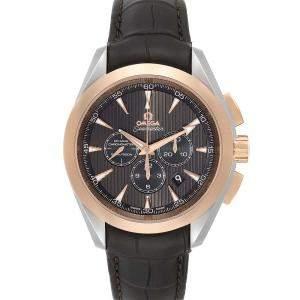 Omega Brown 18K Rose Gold And Stainless Steel Seamaster Aqua Terra 231.23.44.50.06.001 Men's Wristwatch 44 MM