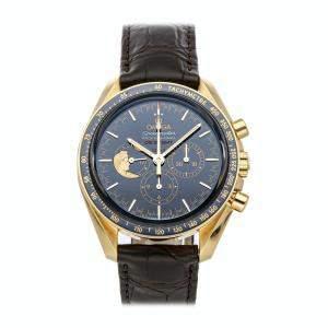 Omega Blue 18k Yellow Gold Speedmaster Moonwatch Anniversary Limited Series 311.63.42.30.03.001 Men's Wristwatch 42 MM