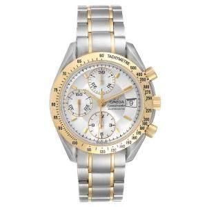 Omega Silver 18K Yellow Gold Speedmaster Date Chronograph 3311.20.00 Men's Wristwatch 39 MM