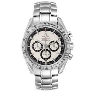 Omega Silver Stainless Steel Speedmaster Schumacher Legend Limited Edition 3506.31.00 Men's Wristwatch 42 MM