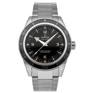 Omega Black Stainless Steel Seamaster 300m 233.30.41.21.01.001 Men's Wristwatch 41 MM