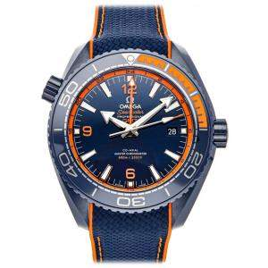"Omega Blue Ceramic Seamaster Planet Ocean 600M GMT ""Big Blue"" 215.92.46.22.03.001 Men's Wristwatch 45.5 MM"
