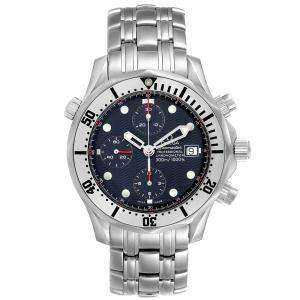 Omega Blue Stainless Steel Seamaster Chronograph 2598.80.00 Men's Wristwatch 41.5 MM