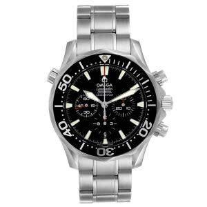Omega Black Stainless Steel Seamaster Chronograph 2594.52.00 Men's Wristwatch 41.5 MM