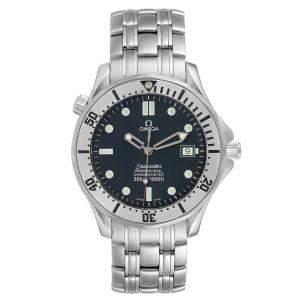 Omega Blue Stainless Steel Seamaster 300m 2532.80.00 Men's Wristwatch 41 MM