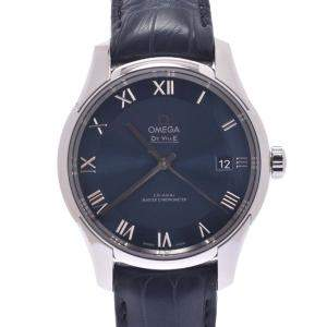 Omega Blue Stainless Steel Devil Co-Axial Hour Vision 433.13.41.21.03.001 Automatic Men's Wristwatch 41 MM
