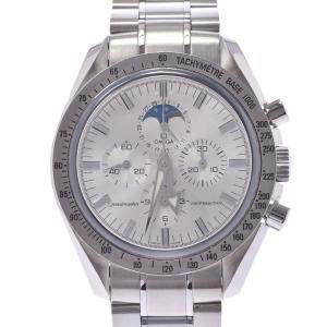 Omega Silver Stainless Steel Speedmaster MoonPhase Broad Arrow 3575.30.00 Men's Wristwatch 40 MM