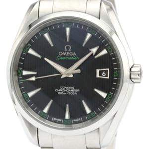 Omega Black Stainless Steel Seamaster Automatic 232.30.42.21.01.001 Men's Wristwatch 42 MM