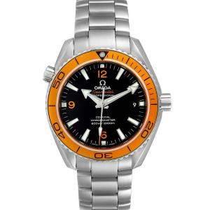 Omega Black Stainless Steel Seamaster Planet Ocean 232.30.42.21.01.002 Men's Wristwatch 42 MM