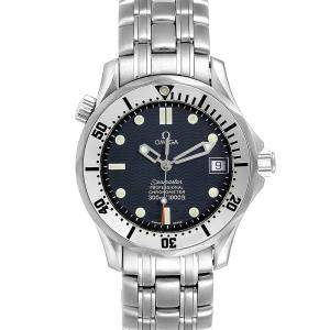 Omega Blue Stainless Steel Seamaster 2552.80.00 Men's Wristwatch 36 MM