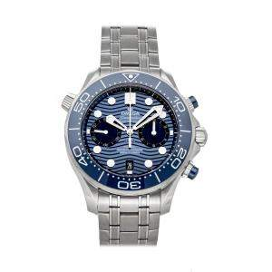 Omega Blue Stainless Steel Seamaster Diver 300m Chronograph 210.30.44.51.03.001 Men's Wristwatch 44 MM