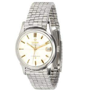 Omega Silver Stainless Steel Constellation 14393 Men's Wristwatch 34 MM