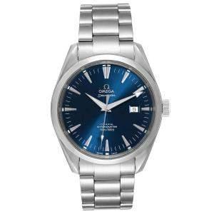 Omega Blue Stainless Steel Seamaster Aqua Terra 2502.80.00 Men's Wristwatch 42 MM