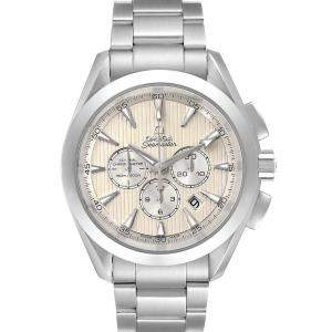 Omega Silver Stainless Steel Seamaster Aqua Terra Co-Axial Chrono 231.10.44.50.09.001 Men's Wristwatch 44 MM
