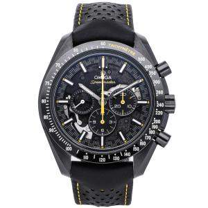 "Omega Black Ceramic Speedmaster Moonwatch Chronograph ""Dark Side of the Moon"" Apollo 8 311.92.44.30.01.001 Men's Wristwatch 44 MM"