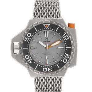 Omega Grey Titanium Seamaster Ploprof 1200m 227.90.55.21.99.001 Men's Wristwatch 50 x 48 MM