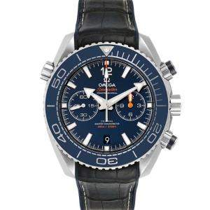 Omega Blue Stainless Steel Seamaster Planet Ocean 600m Co-Axial 215.33.46.51.03.001 Men's Wristwatch 45.5 MM
